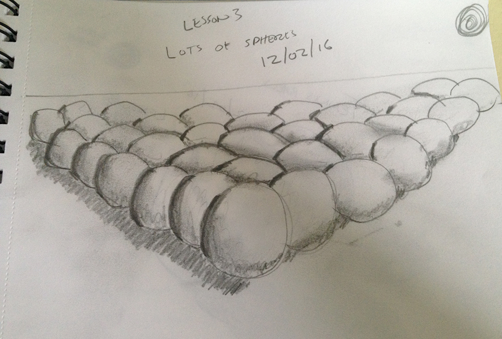 Cliftwalker Learn To Draw In 30 Days Lesson 3 Lots Of Spheres