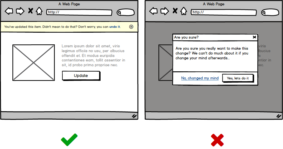 Provide meaningful user interface feedback