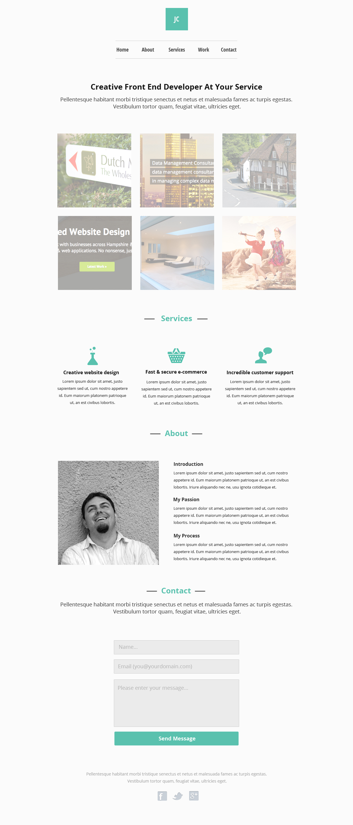Minimal Responsive Theme for Perch CMS